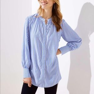 🚚🚚🚚 SALE Loft Crossover Yoke Tunic Buttondown